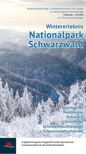 Winterkarte Nationalpark Schwarzwald